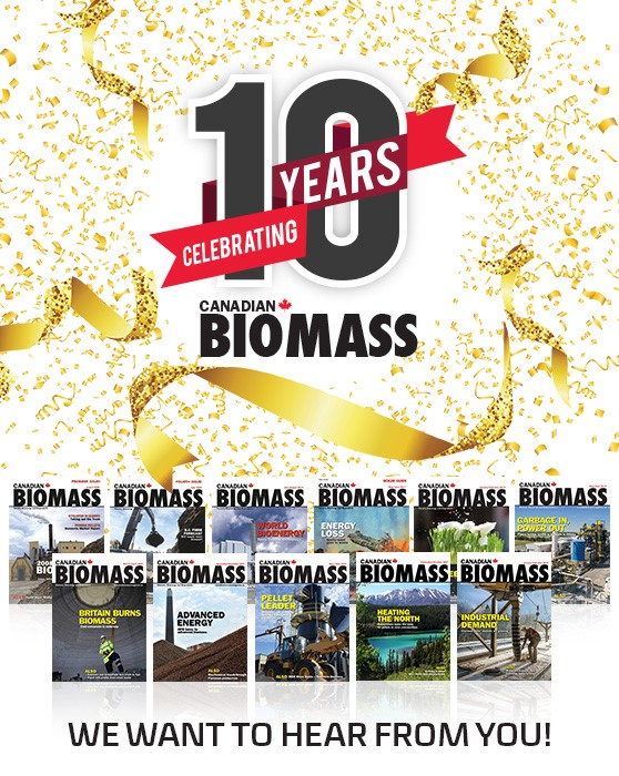 Canadian Biomass is turning 10!